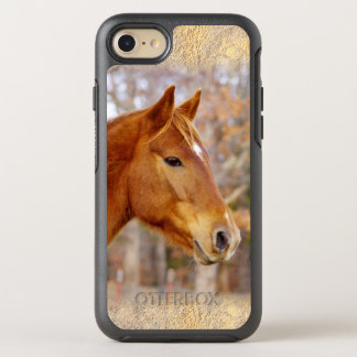 Schönes Kastanien-PferdiPhone 6/6s Otterbox OtterBox Symmetry iPhone 8/7 Hülle