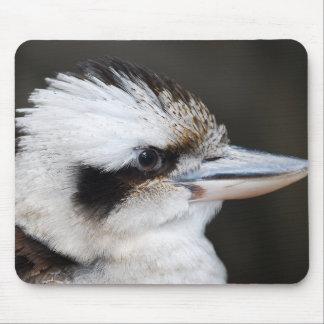 Schönes kookaburra Vogel-Seitenporträt Mauspad