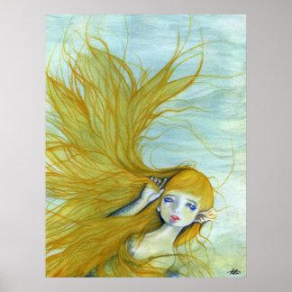 Schönes Meerjungfrauhaarplakat Poster