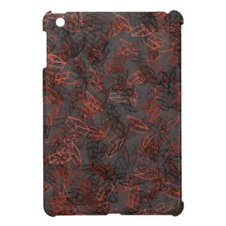 Schönes, modernes rotes und schwarzes iPad mini cover