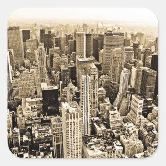 Schönes New York City Quadratischer Aufkleber
