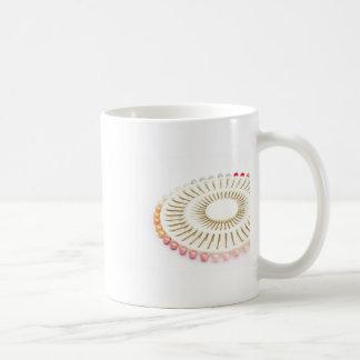 schönes Perlenrosa-Button-Set Tasse