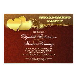 schönes romantisches Verlobungs-Party laden ein 12,7 X 17,8 Cm Einladungskarte