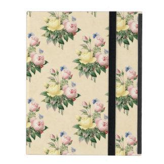 Schönes Rosenmuster beige iPad Kasten iPad Schutzhülle