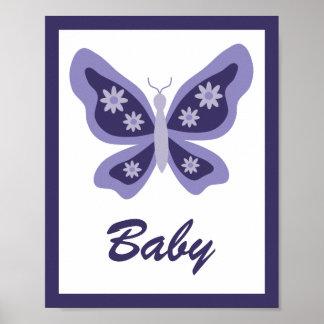 Schönes Schmetterlings-Kinderzimmer Poster