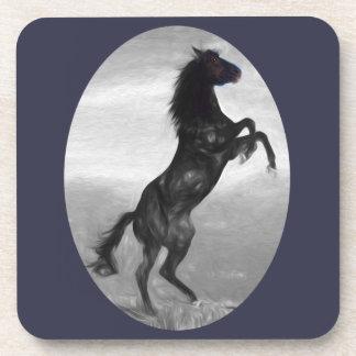 Schönes schwarzes Pferdemehrfache Produkte Getränkeuntersetzer