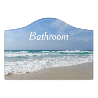 Schönes Strand-und Seebadezimmer-Tür-Zeichen Türschild