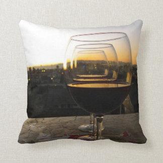 Schönes Wein-und Sonnenuntergang-Kissen! Kissen