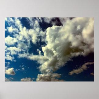 Schönes Wolken-Natur-Himmel-Foto Poster