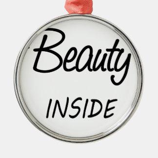 Schönheit nach innen silbernes ornament