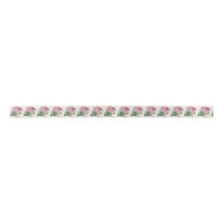 Schönheits-rosa Rose auf grauem Band Satinband