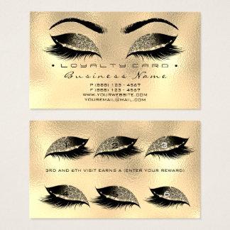 Schönheits-Salon-Peitschen-Goldlux-Einwachsen der Visitenkarte