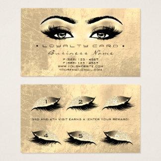 Schönheits-Salon-Peitschen-Make-upbrown-Gold der Visitenkarte