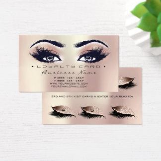 Schönheits-Salon-Peitschen-Pfirsich-Rosen-Gold der Visitenkarte