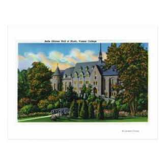 Schönheits-Skinner-Musik Hall, Vassar Uni Postkarte