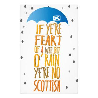 Schotten haben nicht vor Regen Angst Briefpapier