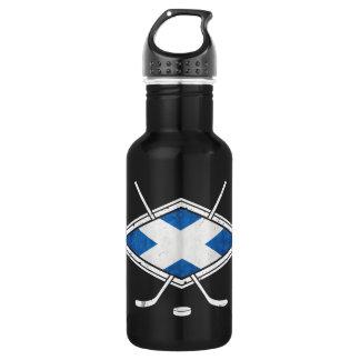Schottische Eis-Hockey-Flaggen-Flasche Trinkflasche