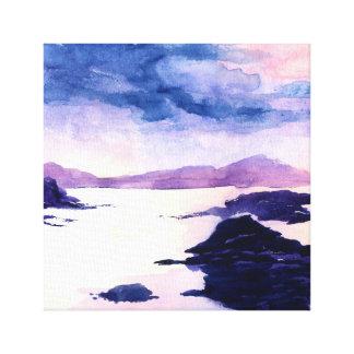 Schottische Wasserfarbe-Leinwand Loch Lomond Leinwanddruck