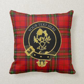 Schottischer Clan-Wappen-Rosen-DistelTartan Kissen