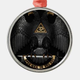 Schottischer Ritus 32 Grad-Maurer Eagle Rundes Silberfarbenes Ornament