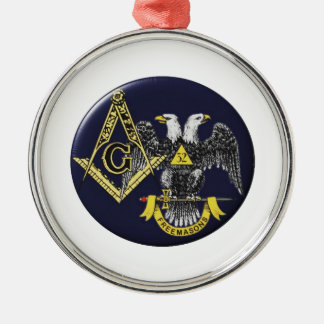 Schottischer Ritus-Maurer Silbernes Ornament
