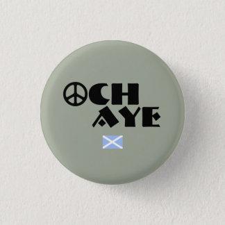 Schottisches Antitrident-Friedenssymbol-Abzeichen Runder Button 2,5 Cm