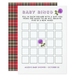 Schottisches Blumen-Baby-Duschen-Bingo des Karte