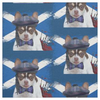 Schottisches Chihuahuahundgewohnheits-Gewebe Stoff