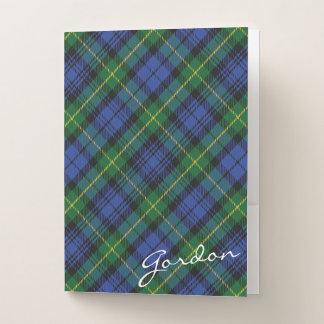 Schottisches Effekt-Haus von Gordon-ClanTartan Mappe