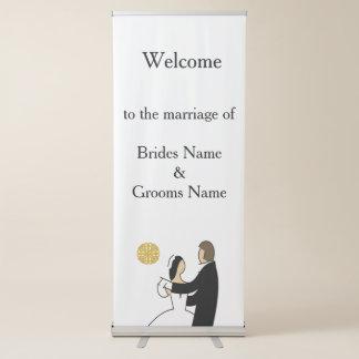 Schottisches und keltisches Paar-Hochzeits-Thema Ausziehbarer Banner