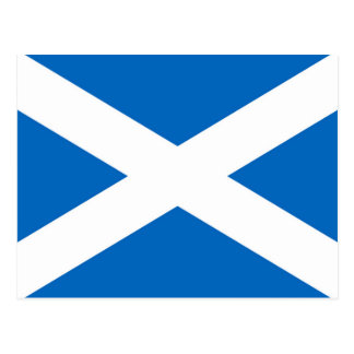 Schottland-Flagge Postkarte