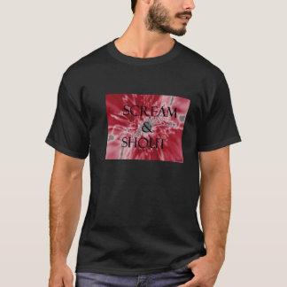 Schrei u. Ruf-Schwarzes T-Shirt
