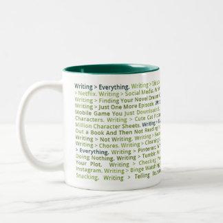 Schreiben > alles Tasse (dunkelgrün)