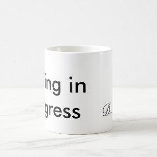 Schreiben laufend tasse