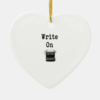 Schreiben Sie an Keramik Herz-Ornament