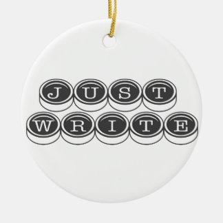 Schreiben Sie einfach Rundes Keramik Ornament
