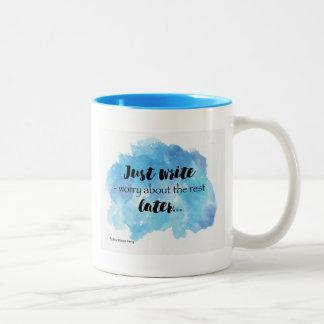 Schreiben Sie einfach Tassen-Entwurf Zweifarbige Tasse