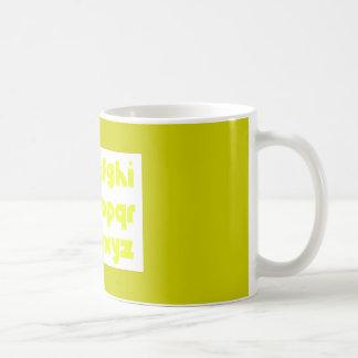 schreiben Sie Schriftart Kaffeetasse