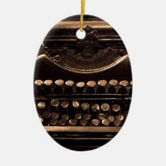 Schreibmaschine Ovales Keramik Ornament