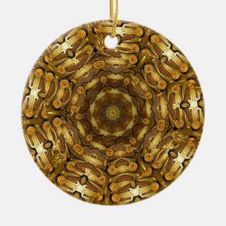 Schreibmaschine Rundes Keramik Ornament