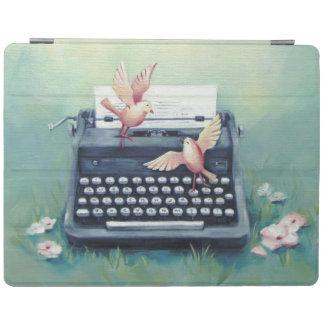 Schreibmaschine u. Vögel Ipad intelligente iPad Hülle