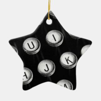 Schreibmaschinentasten Keramik Stern-Ornament