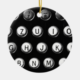 Schreibmaschinentasten Rundes Keramik Ornament