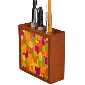 Schreibtisch-Organisator mit abstrakter Kunst des Stifthalter