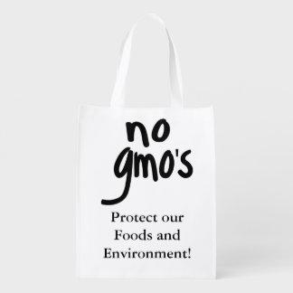 Schreien keines GMOs schützen unsere Nahrung Wiederverwendbare Einkaufstasche