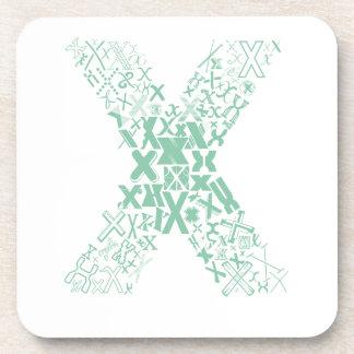 Schriftart-Mode X Getränkeuntersetzer