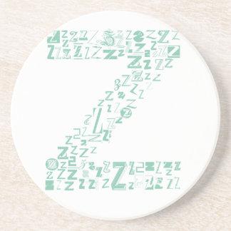 Schriftart-Mode Z Sandstein Untersetzer
