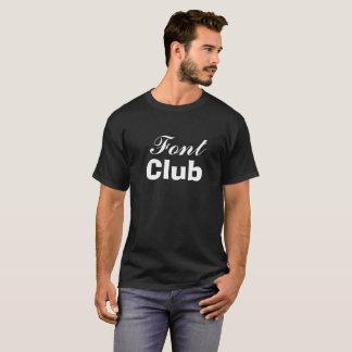 Schriftart-Verein T-Shirt