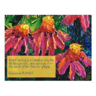 Schrifts-Karte Colossians 3:23 Postkarten