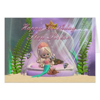 Schritt-Schwester-Geburtstagskarte mit kleiner Karte